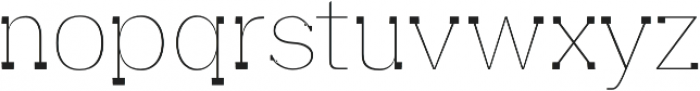 Aster Thin otf (100) Font LOWERCASE