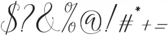 Astereiska Script Regular otf (400) Font OTHER CHARS