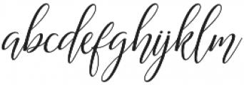 Astereiska Script Regular otf (400) Font LOWERCASE