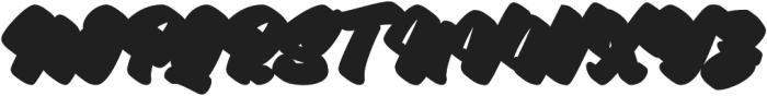 Asterik Extrude otf (400) Font UPPERCASE