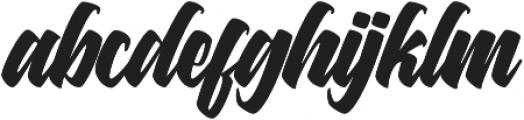 Asterik Regular otf (400) Font LOWERCASE