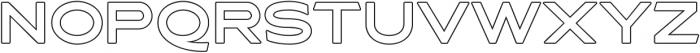 Asterone Outline otf (400) Font UPPERCASE