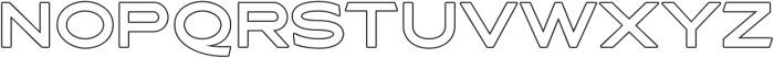 Asterone Outline otf (400) Font LOWERCASE