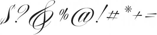 Aston Script Regular otf (400) Font OTHER CHARS