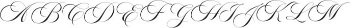 Aston Script Regular otf (400) Font UPPERCASE