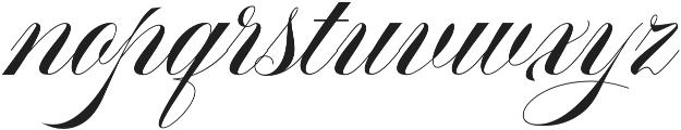 Aston Script Regular otf (400) Font LOWERCASE