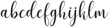 Asyiela otf (400) Font LOWERCASE