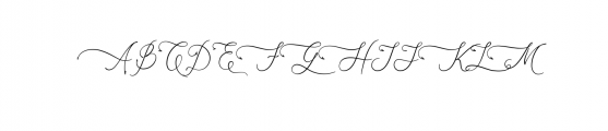 AsmelinaHarley.otf Font UPPERCASE