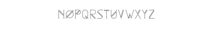 Astrobia Light.ttf Font UPPERCASE
