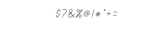 Astrobia Regular Italic.ttf Font OTHER CHARS