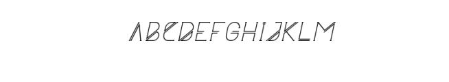 Astrobia Regular Italic.ttf Font UPPERCASE