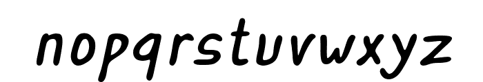 ASCOTA Italic Font LOWERCASE