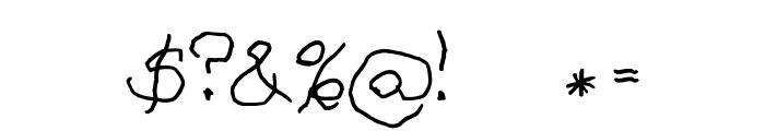 ASILUM Font OTHER CHARS
