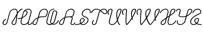 ASTONISHING Font UPPERCASE
