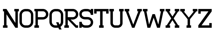 Asakura Slab Font UPPERCASE