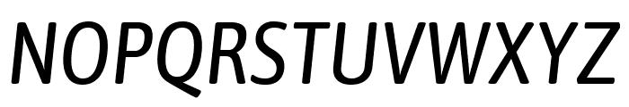 Asap Condensed Italic Font UPPERCASE