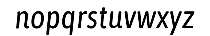 Asap Condensed Italic Font LOWERCASE