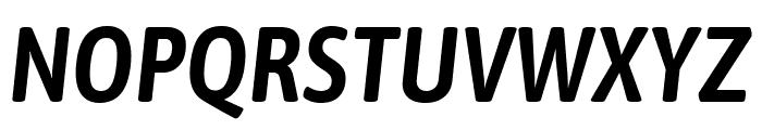 Asap Condensed SemiBold Italic Font UPPERCASE