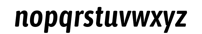 Asap Condensed SemiBold Italic Font LOWERCASE