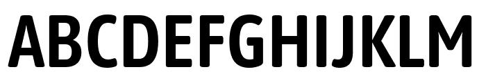 Asap Condensed SemiBold Font UPPERCASE