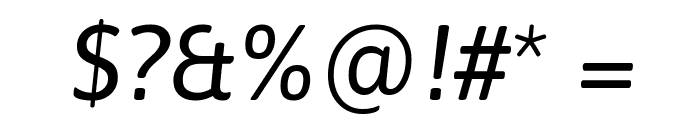 Asap Italic Font OTHER CHARS
