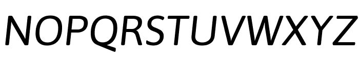 Asap Italic Font UPPERCASE