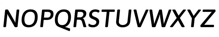 Asap Medium Italic Font UPPERCASE