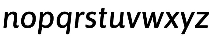 Asap Medium Italic Font LOWERCASE