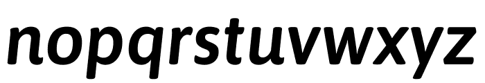 Asap SemiBold Italic Font LOWERCASE