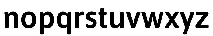 Asap SemiBold Font LOWERCASE