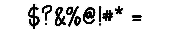 AsdfghjklBold Font OTHER CHARS