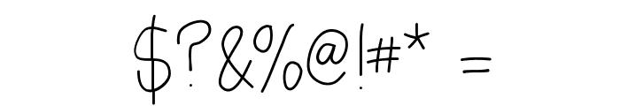 AsdfghjklLight Font OTHER CHARS