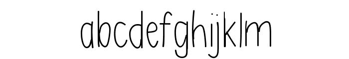AsdfghjklLight Font LOWERCASE