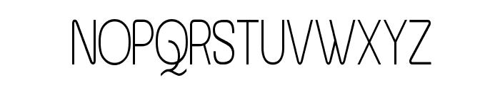 Asenine Thin Font UPPERCASE