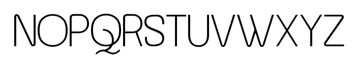 Asenine Font UPPERCASE