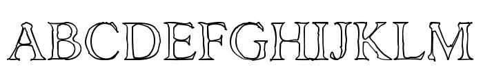 AshaOutline Font UPPERCASE