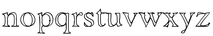 AshaOutline Font LOWERCASE