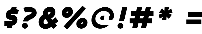 Ashby Black Italic Font OTHER CHARS