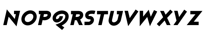 Ashby Black Italic Font UPPERCASE