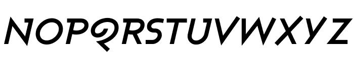 Ashby Bold Italic Font UPPERCASE