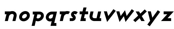 Ashby Extra Bold Italic Font LOWERCASE