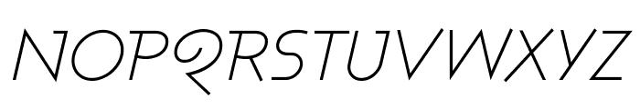 Ashby Light Italic Font UPPERCASE