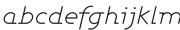 Ashby Light Italic Font LOWERCASE