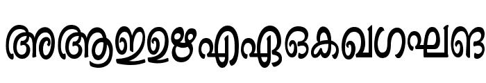 Ashique ML Minnu Bold Font UPPERCASE