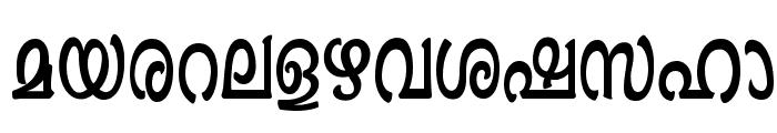 Ashique ML Minnu Semi Bold Font LOWERCASE