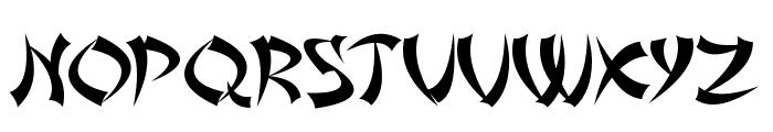 Asian Delight Font UPPERCASE