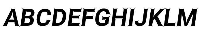 Asimov Edge Italic Font UPPERCASE
