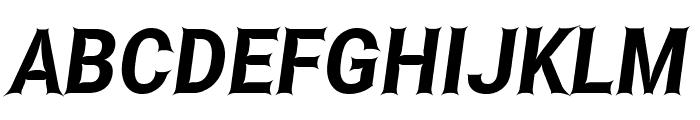 Asimov Edge Narrow Italic Font UPPERCASE