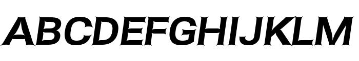 Asimov Edge Wide Italic Font UPPERCASE