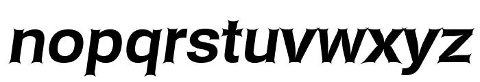 Asimov Edge Wide Italic Font LOWERCASE
